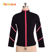 Customized Figure Skating Jacket Zippered Tops for Girl Women Training Competition Patinaje Ice Skating Warm Fleece Gymnastic 39