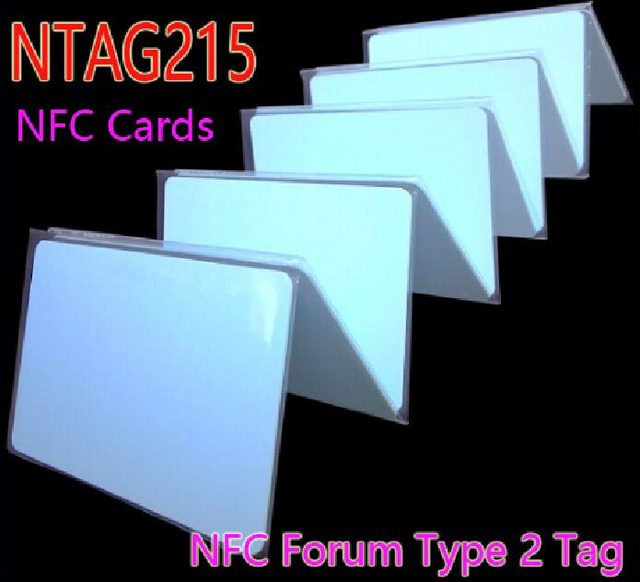 O Envio gratuito de 50 pçs/lote NTAG215 Cartões NFC NFC Forum Tipo 2 Tag 13.56 MHz ISO/IEC 14443 Um Cartão RFID para Todos Telefone Móvel NFC