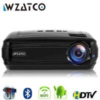 WZATCO CTL60 Обновление Android 7,1 WI FI 5500 люмен Портативный fullHD дома Кино светодиодный ТВ пректор 1080 P 4 K видео игры HDMI мультимедийный ЖК проектор