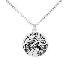 """My shape винтажное ожерелье кулон """"Гора"""" круглые амулеты звено цепи найдите свою дорогу вдохновляющие"""