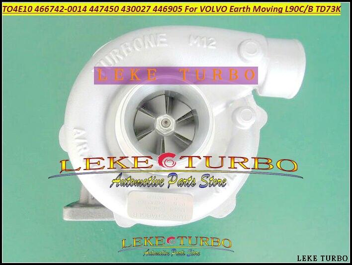 TO4E10 466742 466742-0014 1103390 11032959 4881600 Turbo Pour VOLVO offway L120B BM VME A25C L90B Chargeur L90C Terrassement TD73K