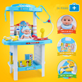 Pretend Play Doctor Table with doll Kids Pretend Play Toys Set For Children Kids Medicine Role Play Educational Baby Toys Gifts