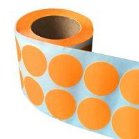 Smart Стикеры 1 дюймов круглый пустой Orange Стрельба мишени Поклейщиков 1,000 клей целевой точки для свадьбы сердце этикетки Dot