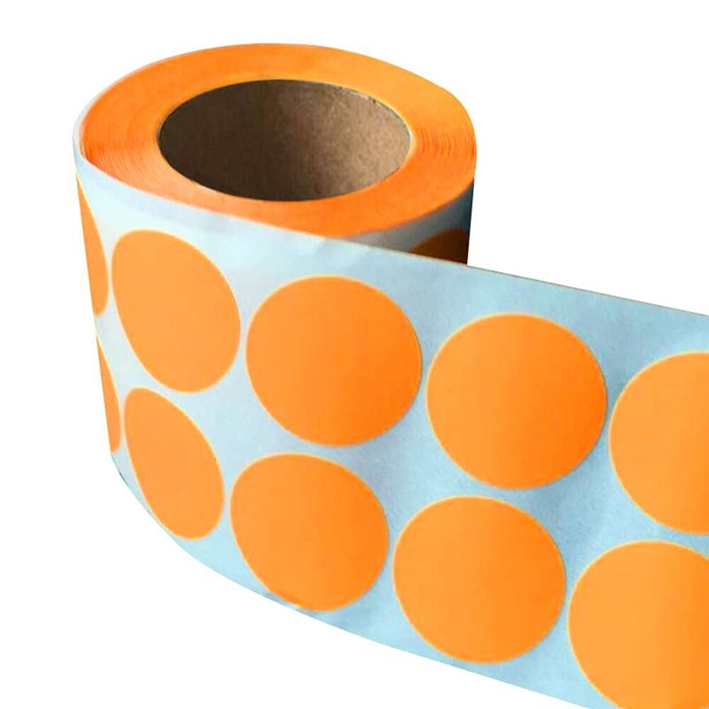 Smart Sticker 1 Inch Round Blank orange Shooting Target Pasters 1,000 Adhesive Target Dots for wedding heart dot label 1 110 dot to dots