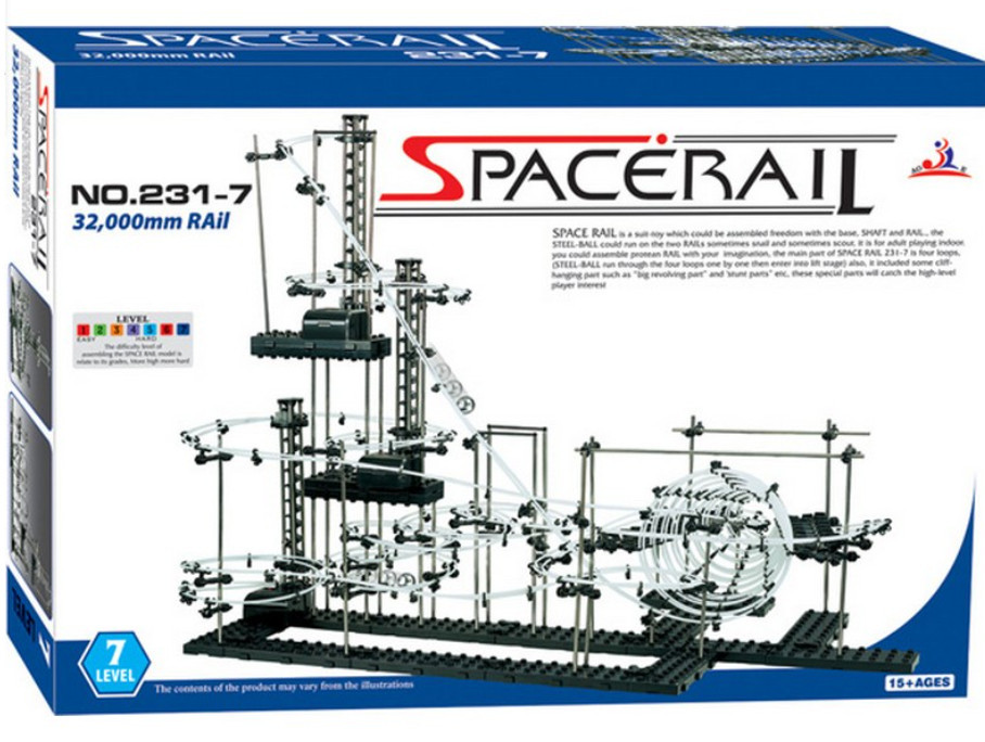 High Quality! New Space Rail Funny Model Building Kit RollerCoaster Toys SpaceRail Level 7, DIY Spacewarp Erector Set 32000mm