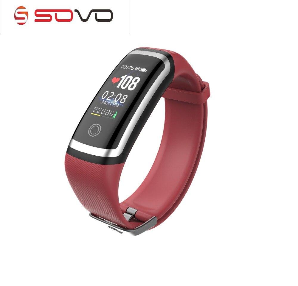 SOVOGU B01 banda Intelligente Schermo a Colori Dinamica Monitor di Frequenza Cardiaca Wristband 20 metri Impermeabile di Sport di fitness Pedometro M4 Braccialetto