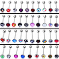 2pcs/lot Unisex Sexy Tongue Piercing langue Body piercing Tongue Rings for women Surgical Stainless Steel 1.6*18mm Oil Grip
