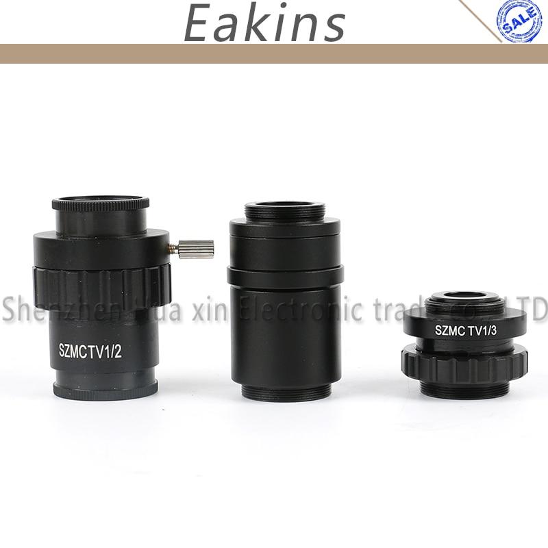 0.5X 0.3X 1X adaptateur d'objectif c-mount 1/2 adaptateur CTV pour 1X SZMC TV1/2 SZMC TV1/3 accessoires de caméra de Microscope stéréo trinoculaire