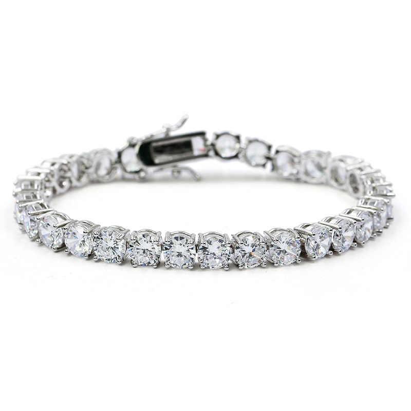 Missfox Hiphop Male Tennis Bracelet Tri