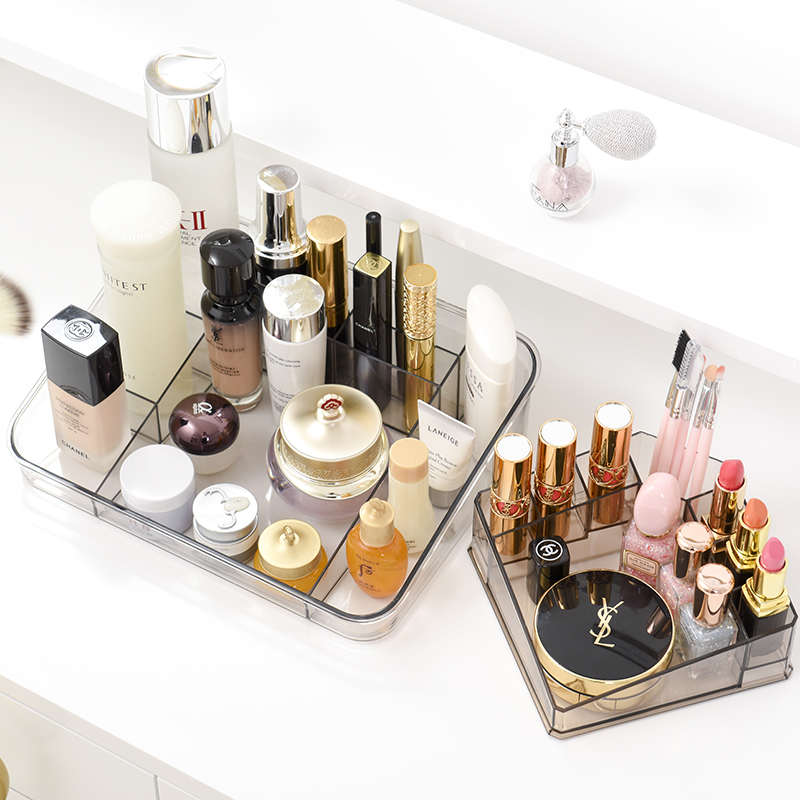 050 Multi function Acrylic transparent desktop cosmetics storage box makeup case 25 18 5 7cm in Makeup Organizers from Home Garden