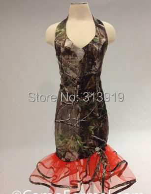 free shipping strapless military ball gowns printing camo short prom ...