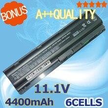 4400 mah batería para hp pavilion dm4 dv3 dv5 dv6 dv7 g4 g6 MU06 G7 635 para Compaq Presario CQ56 G32 G42 G72 593553-001 593554-001