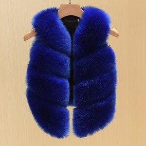 Image 5 - 2017 Fashion Childrens Clothing Faux Fox Fur Vest European Style Toddler Baby Girls Waistcoat Winter Coat TZ135