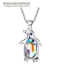 Neoglory австрийский кристалл Пингвин Чокеры макси длинные модные ожерелья и подвески для женщин лучший друг подарок Бохо ювелирные изделия T1