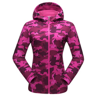 Tectop Spring Autumn Soft Shell Outdoor Camping Military Tactical Jacket Waterproof Windproof Sports Camouflage Clothes Women