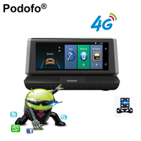 Podofo 8 Touch 4G Android Car Dvr Full HD 1080P Wifi GPS Video Recorder Dual Lens