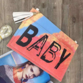 Nuevo diseño de la personalidad carta de colores bebé borla casual embragues del día del bolso del sobre shoulder bag ladies messenger bag