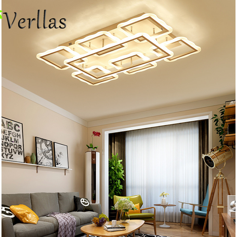 Modern LED Ceiling Lights for Living room Avize Home decor lamp AC90-265V Lamparas De Techo Colgante Dimmer Ceiling Lamp Newest luminaria avize modern ceiling lights led lights for home lighting lustre lamparas de techo plafon lamp ac85 260v lampadari luz
