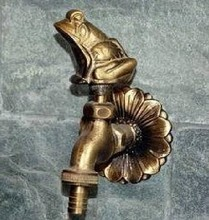 Decorative outdoor faucet rural animal shape garden Bibcock with antique bronze Frog tap for washing mop