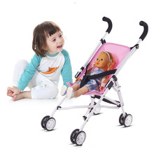 Hot Sale 16inch Fordable Reborn Baby Doll Studio Photography Props Classical Style Toys for Children Stroller Trolley