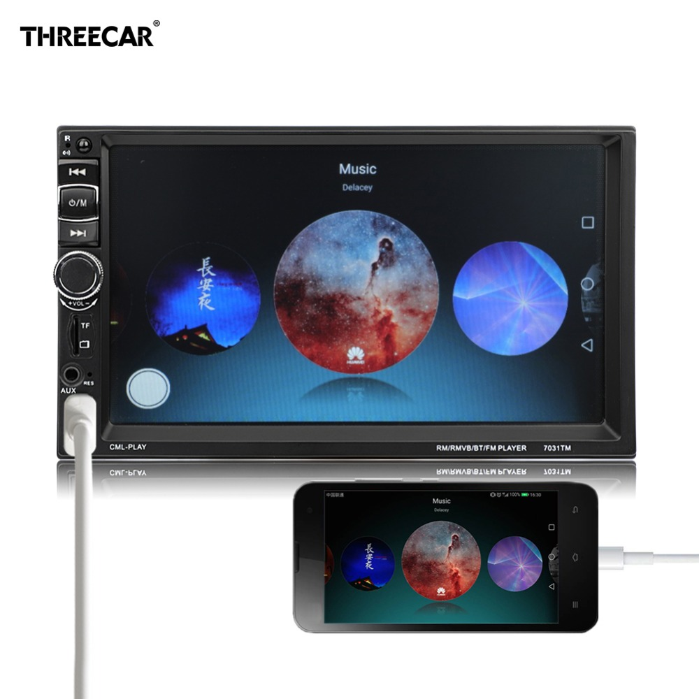 2 Din Android Car Radio 7 Mirror Link Car Stereo Mp5 Player With Touch Screen Multimedia