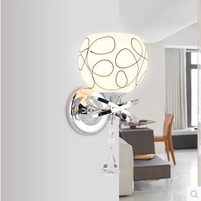 цена Modern Simple LED Wall Light For Bedroom Home Indoor Lighting Beside Lamp Wall Arandela Lampara Pared