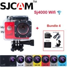 Оригинал SJCAM SJ4000 WiFi Full HD 1080 P DV Спорт Действий Камеры Sj 4000 Wifi Cam + Дополнительная Батарея + зарядное устройство + Автомобильное Зарядное Устройство + Присоске