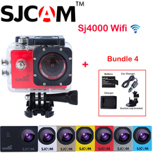 Original SJCAM SJ4000 WiFi Full HD 1080P DV Sports Action Camera Sj 4000 Wifi Cam +Extra Battery+Charger+Car Charger+Suction Cup
