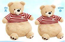 new creative plush red stripe sweater bear sofa lovely American Bear tatami gift