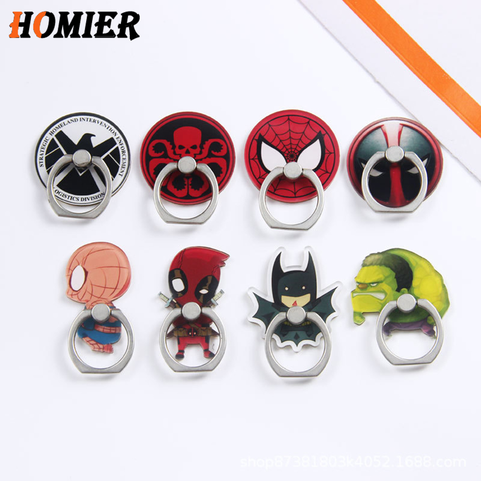 Universal Metal Hot Finger Ring Mobile Cell Phone Cute Cartoon Phone Holder Stand Socket For IPhone 6s 7 8 Plus X Bracket Holder