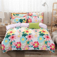 Princess Bedding Duvet Cover Set Home Textile For Girls 3 4PCS Twin Full Queen King Size