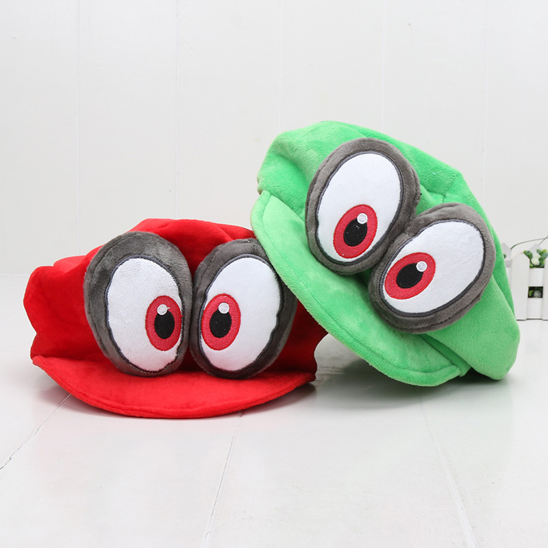 Anime Super Mario Plush Odyssey Cappy Hats Bros Luigi Waluigi Wario Caps Soft Cosplay Adults Kids Party Accessories Toys