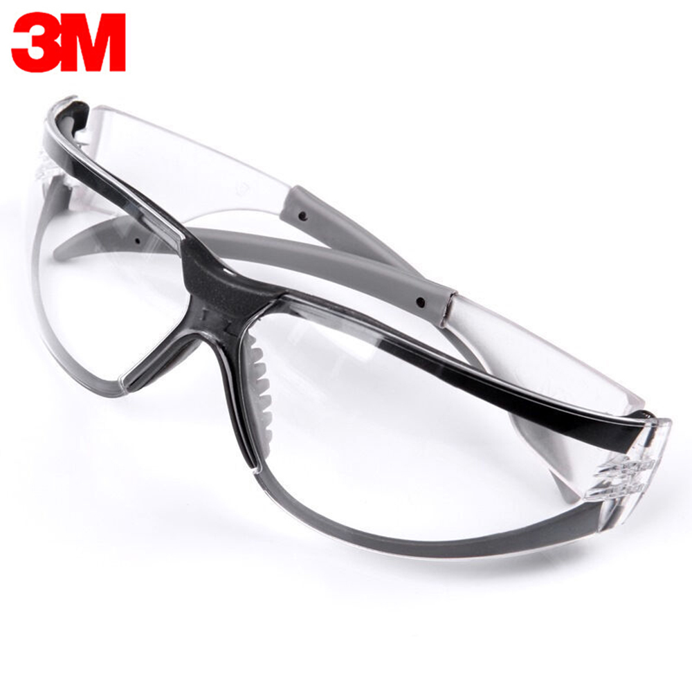 3M 11394 Safety Glasses Goggles Anti-Fog Antisand Windproof Dust Resistant Transparent Glasses Protective Working Eyewear(China)