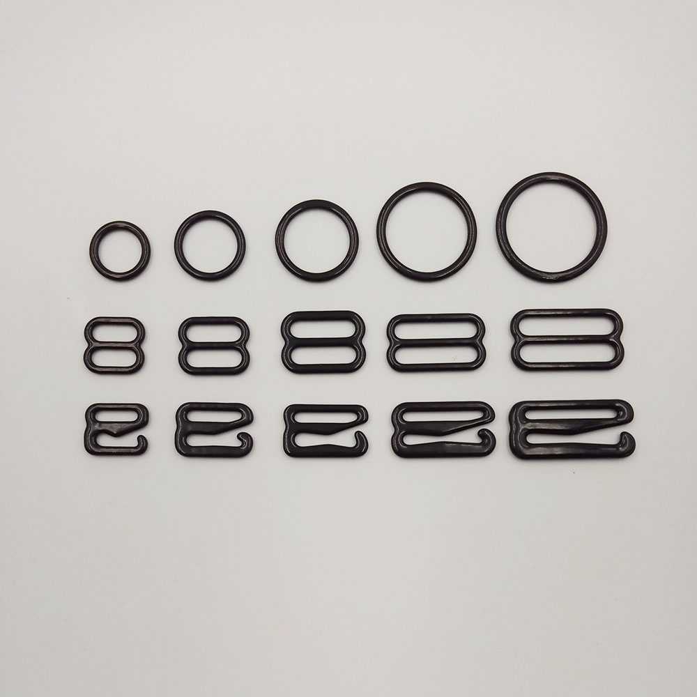 a6294f6aca Free shipping 300 pcs   lot nylon coated metal bra adjustable buckles ring  sliders and hooks