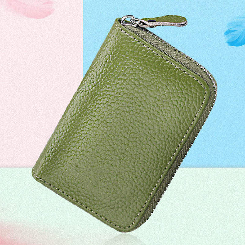Mens Womens Leather  Mini Leather Wallet Bank/Name Card Holder Double Zipper Credit Card Holders Women Men Pillow ID Card Case hot yuri on ice unisex name id business card holder wallets plisetsky yuri 28 bank credit card case holders card holder purse