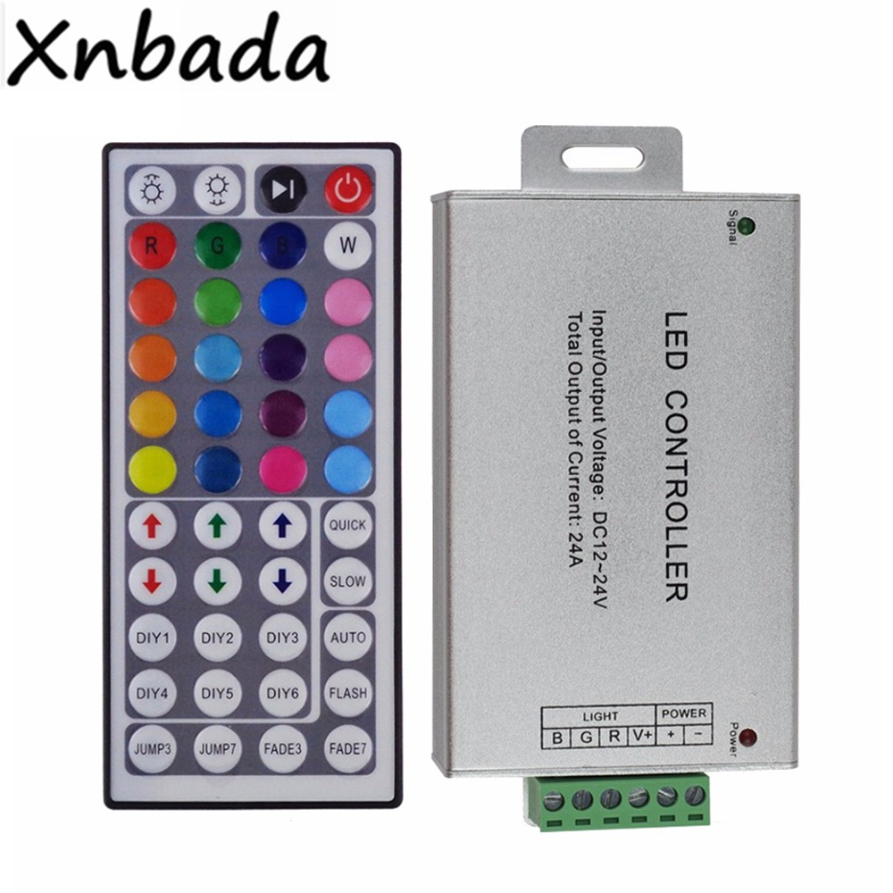 44Keys IR Remote Controller With 24A Led Controller For 3528 5050 RGB Led Strip DC12-24v