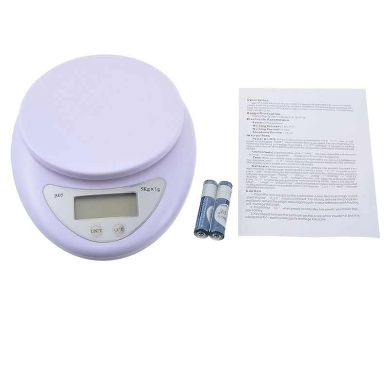 Urijk 5kg/1g Portable Digital Scale LED Electronic Scales Postal Food Health Diet Measuring Weight Kitchen LED Electronic Scales