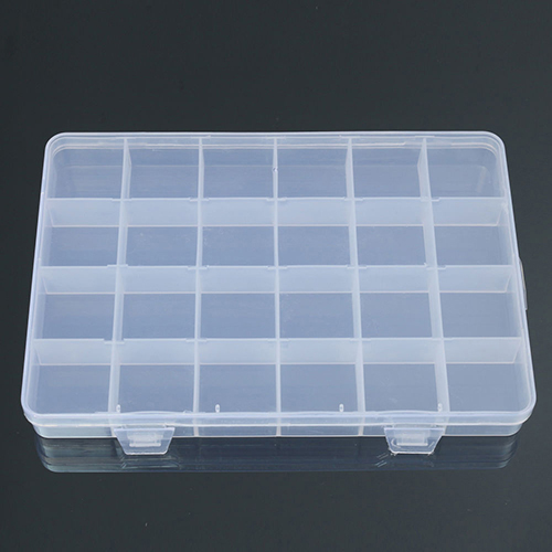 24 Compartments Plastic Box Case Jewelry Bead Storage