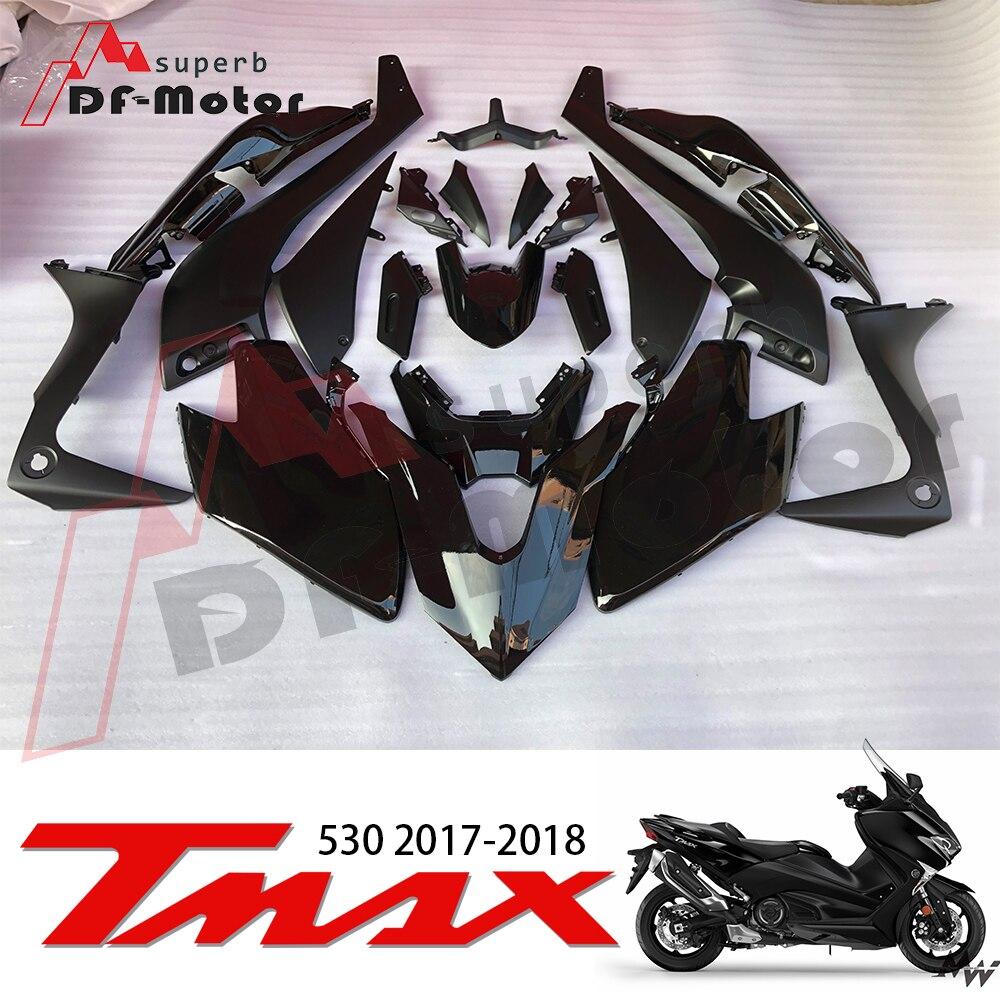 Для Yamaha Tmax 530 2017 2018 TMAX530 T-MAX530 17 18 T-MAX 530 Белый Черный мотоциклов обтекателя Kit (литья под давлением) Лидер продаж,