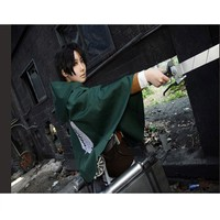 Cool Style Anime Shingeki No Kyojin Cloak Cape Clothe Cosplay Attack On Titan