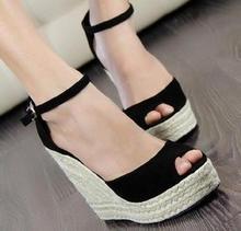 Women's Sandals 2016 Summer style comfortable Bohemian Wedges Women sandals for Lady shoes high platform open toe flip flops