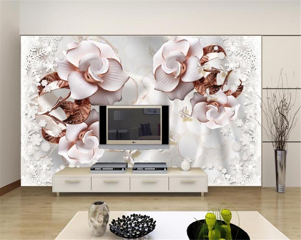Painting Supplies & Wall Treatments Wallpapers Official Website Beibehang Custom Wallpaper Nordic Retro Fresh Watercolor Flowers Brick Wall Tv Background Living Room Bedroom Mural 3d Wallpaper