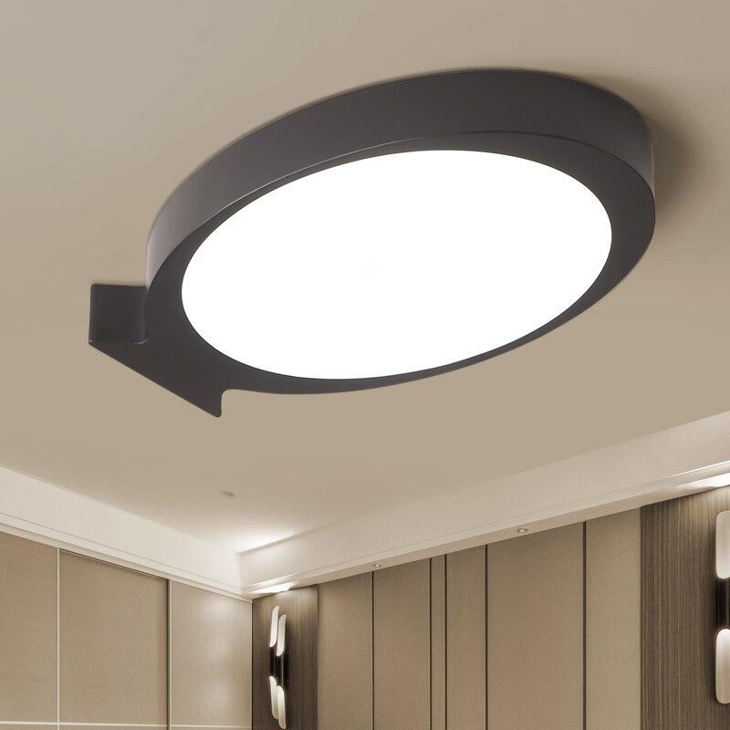 led ceiling lamps lighting ceiling light art black white of modern minimalist led creative living room bedroom study room ZA9199