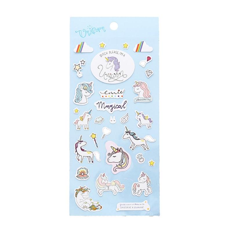 Купить с кэшбэком 1X Creative girl unicorn diary stickers DIY decoration Stickers Cute Diary Decoration Scrapbooking pvc Sticker Stationer