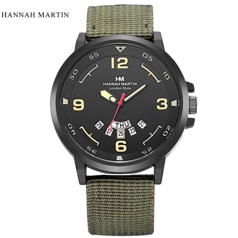 Marca de lujo Hannah Martin Hombres Relojes Deportivos Hombres Cuarzo - Relojes para hombres - foto 5