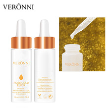 24K Rose Gold Infused Beauty Oil Elixir Skin VERONNI Before Primer Foundation Moisturizing Essential Oil Face Anti-aging Make Up darphin essential oil elixir ароматический восстанавливающий бальзам essential oil elixir ароматический восстанавливающий бальзам