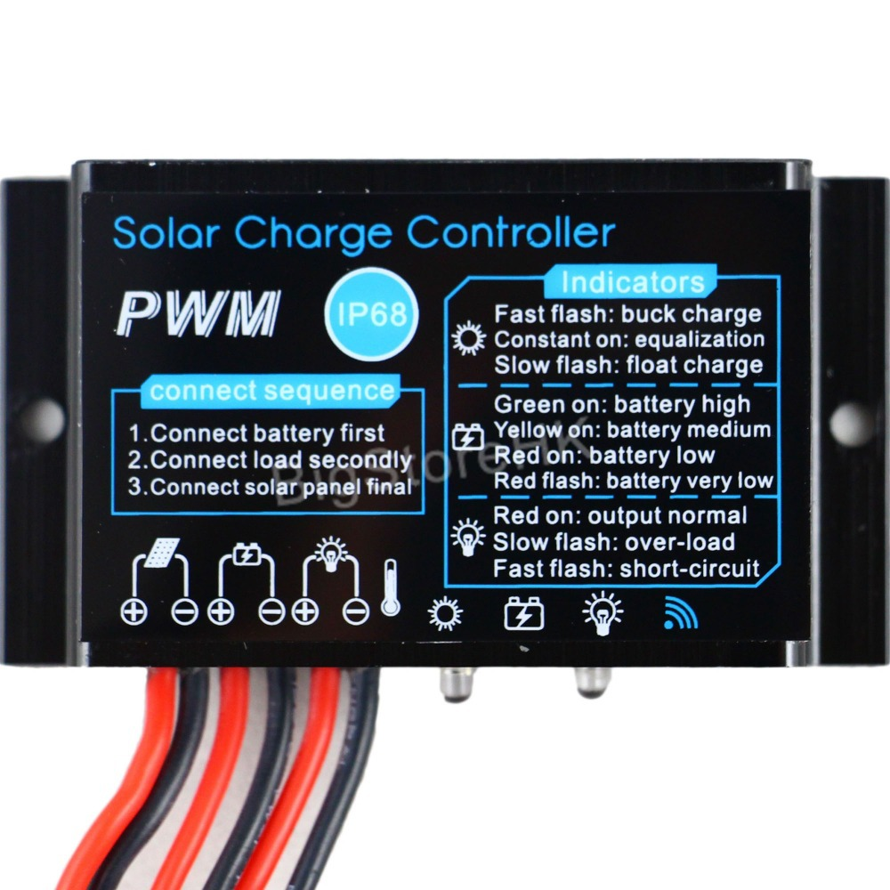 10a Solar Charge Controller 12v Waterproof Ip68 Panel Battery Via The Mini Usb Port On Charging Circuit Or Outdoor Use For Pv System In Controllers From Home