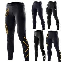 Для мужчин женские спортивные Леггинсы быстросохнущая Slim Fit высокое эластичные спортивные штаны для йоги Баскетбол ASD88