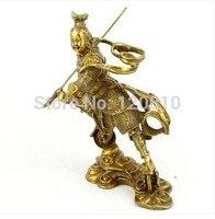 Dritte Prince Nezha feng shui ornamente kupfer/bronze ornamente/Nazha bronze statue handwerk-in Statuen & Skulpturen aus Heim und Garten bei