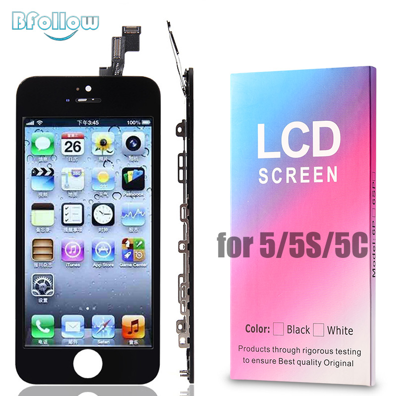 BFOLLOW <font><b>LCD</b></font> for <font><b>iPhone</b></font> 5 / <font><b>5S</b></font> / 5C AAA <font><b>Original</b></font> Screen Display / COPY Digitizer Assembly Replacement Fix Tools Tempered Glass image